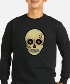 Sugar Skull Glitter and Gold Day of the Dead T