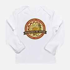 Hanukksgiving Nov 28 Long Sleeve Infant T-Shirt