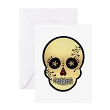 Sugar Skull Glitter and Gold Day of the Dead Greet