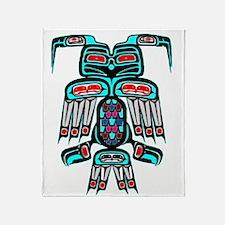 Tribal Thunderbird Throw Blanket