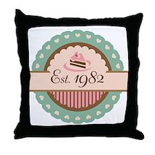 1982 Birth Year Birthday Throw Pillow