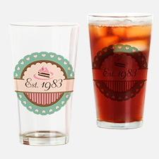 1983 Birth Year Birthday Drinking Glass