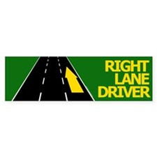 Right Lane Driver Bumper Bumper Sticker