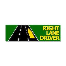 Right Lane Driver Car Magnet 10 x 3