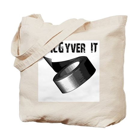 MacGyver It. Funny duct tape Tote Bag
