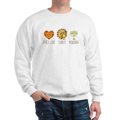 Peace Love Turkey Menorah Sweatshirt