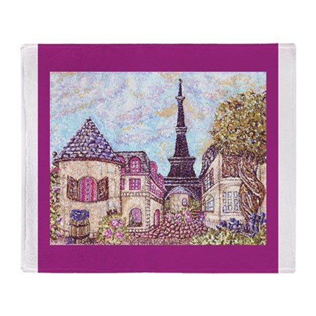 Paris Inspired Pointillism with Eiffel Tower and B