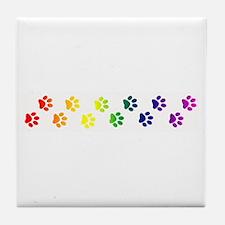 Paws All Over You Tile Coaster