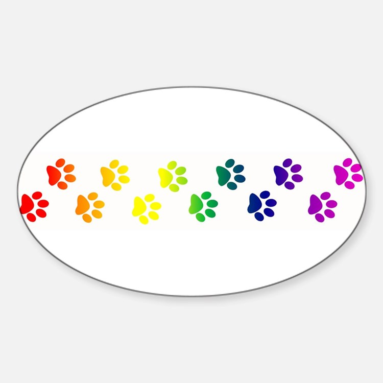 Paws All Over You Oval Decal