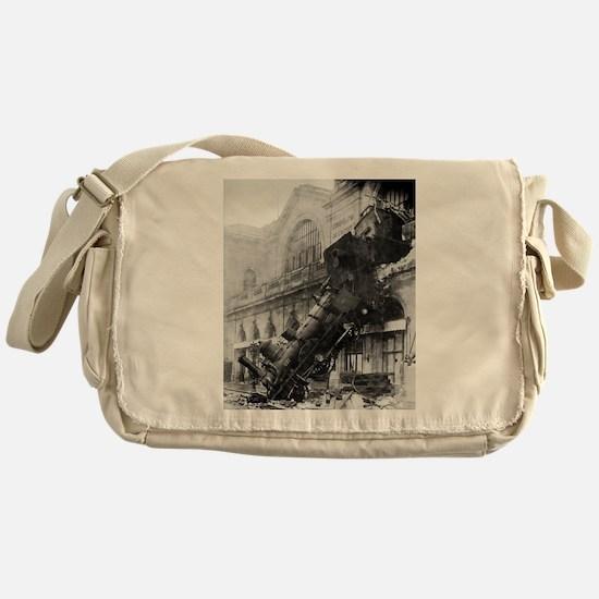 Train Wreck Messenger Bag