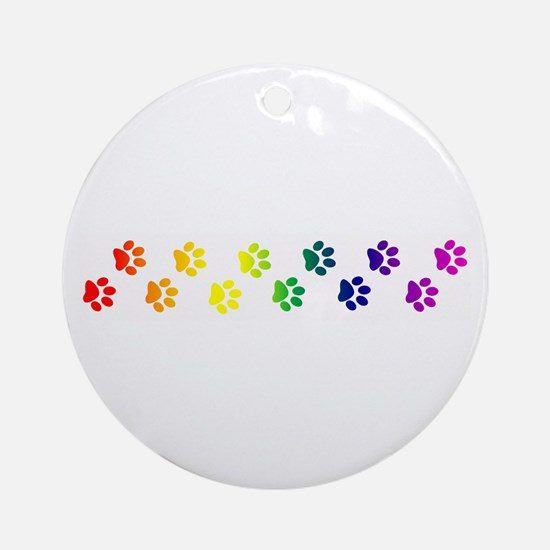Paws All Over You Ornament (Round)