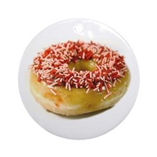 Sprinkled Donut Ornament (Round)
