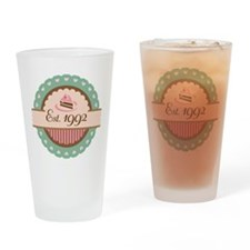 1992 Birth Year Birthday Drinking Glass