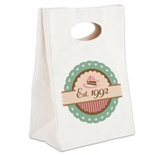 1992 Birth Year Birthday Canvas Lunch Tote