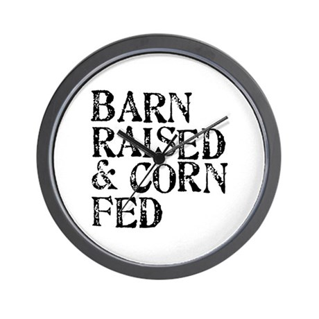 Barn Raised Wall Clock