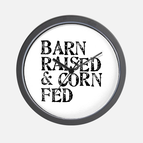 Barn Raised Wall Clock