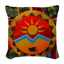Sun Bear Woven Throw Pillow