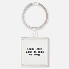 Lucha Libre Martial Art My Therapy Square Keychain