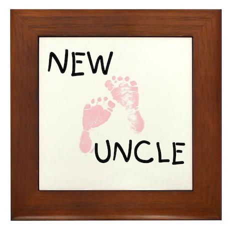 New Uncle (pink) Framed Tile