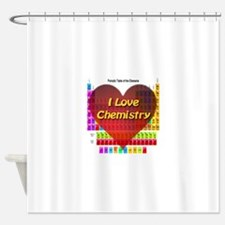 I Love Chemistry Shower Curtain