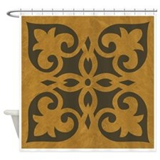 RUBBED BRONZE Shower Curtain