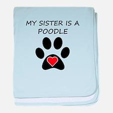 Poodle Sister baby blanket
