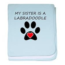 Labradoodle Sister baby blanket