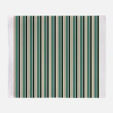 Green Striped Pattern Throw Blanket