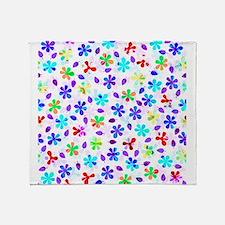 Retro Flowers Throw Blanket