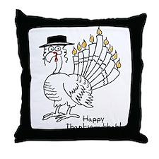 Turkey Menorah Color Throw Pillow