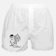 Turkey Menorah Color Boxer Shorts