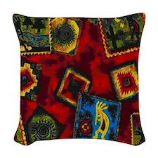 Kokopelli Woven Throw Pillow