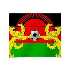 Malawi Football Flag Throw Blanket