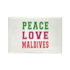 Peace Love Maldives Rectangle Magnet