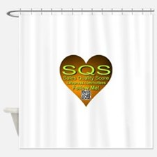 SQS Heart Shower Curtain