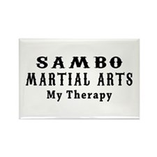 Sambo Martial Art My Therapy Rectangle Magnet
