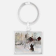 Carl Larsson: The Yard and Wash Landscape Keychain