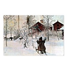 Carl Larsson: The Yard an Postcards (Package of 8)