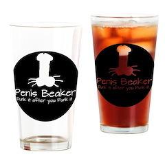 Penis Beaker Logo Drinking Glass