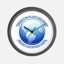 Protect Mother Earth Wall Clock