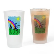 2 Girls and a Unicorn Drinking Glass