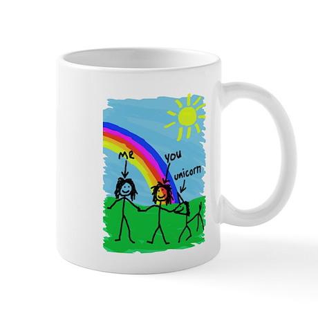 2 Girls and a Unicorn Mugs