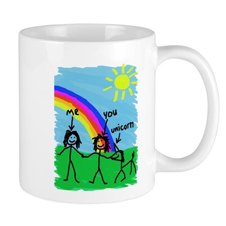 2 Girls and a Unicorn Mugs