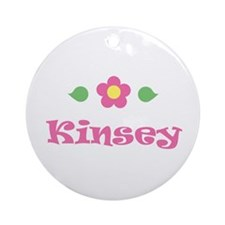 """Pink Daisy - """"Kinsey"""" Ornament (Round)"""