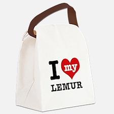 I love my lemur Canvas Lunch Bag