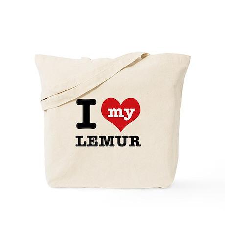 I love my lemur Tote Bag