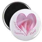 Pink Rose in Heart, Valentine Magnet