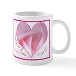 Pink Rose in Heart, Valentine Mug