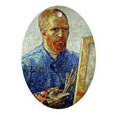Van Gogh - Self-Portrait as an Artis Oval Ornament