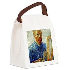 Van Gogh - Self-Portrait as an Ar Canvas Lunch Bag